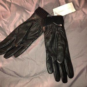 Brand New Black Leather Gloves